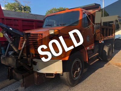 1997 International 4900 MASON DUMP TRUCK     ***  DT466  ***