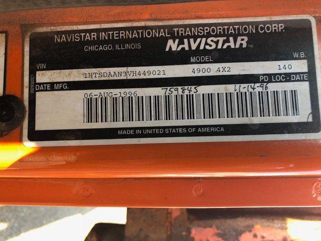 1997 International 4900 MASON DUMP TRUCK     ***  DT466  *** READY FOR PLOW - 17916277 - 12