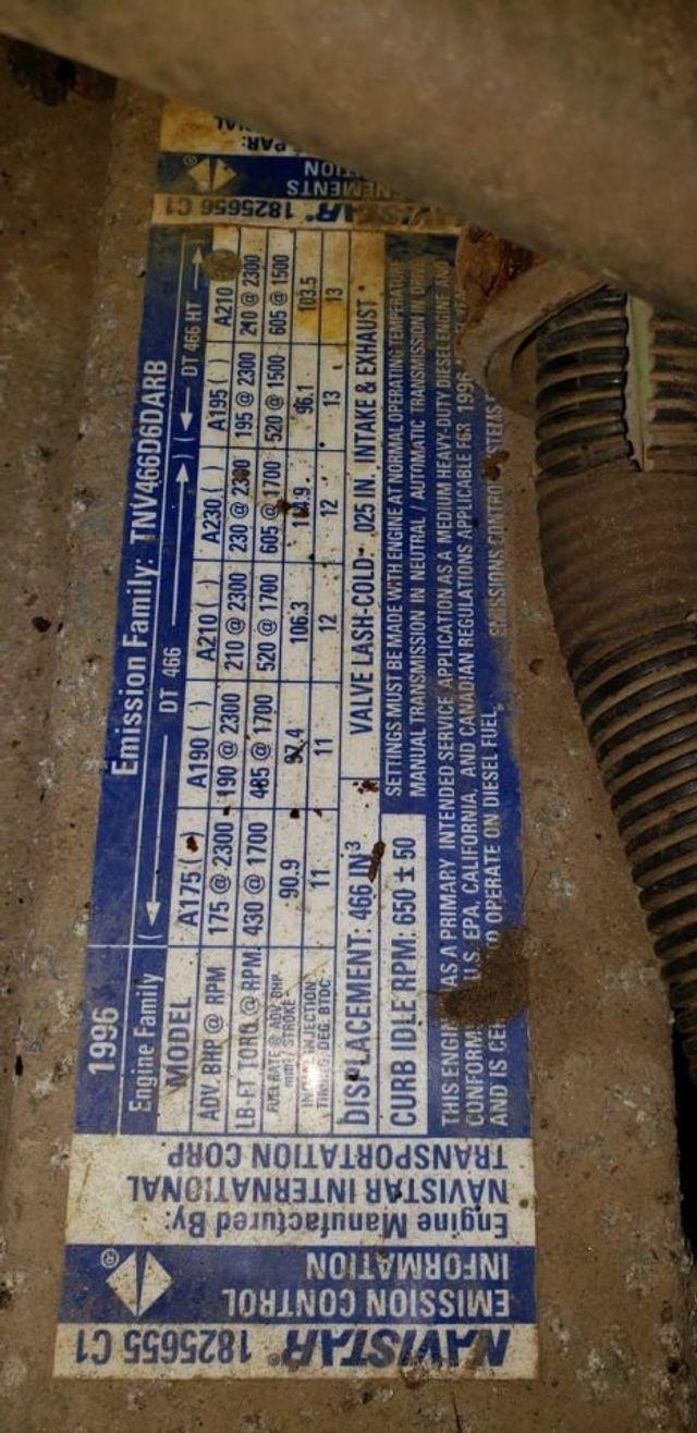 1997 International 4900 MASON DUMP TRUCK     ***  DT466  *** READY FOR PLOW - 17916277 - 15
