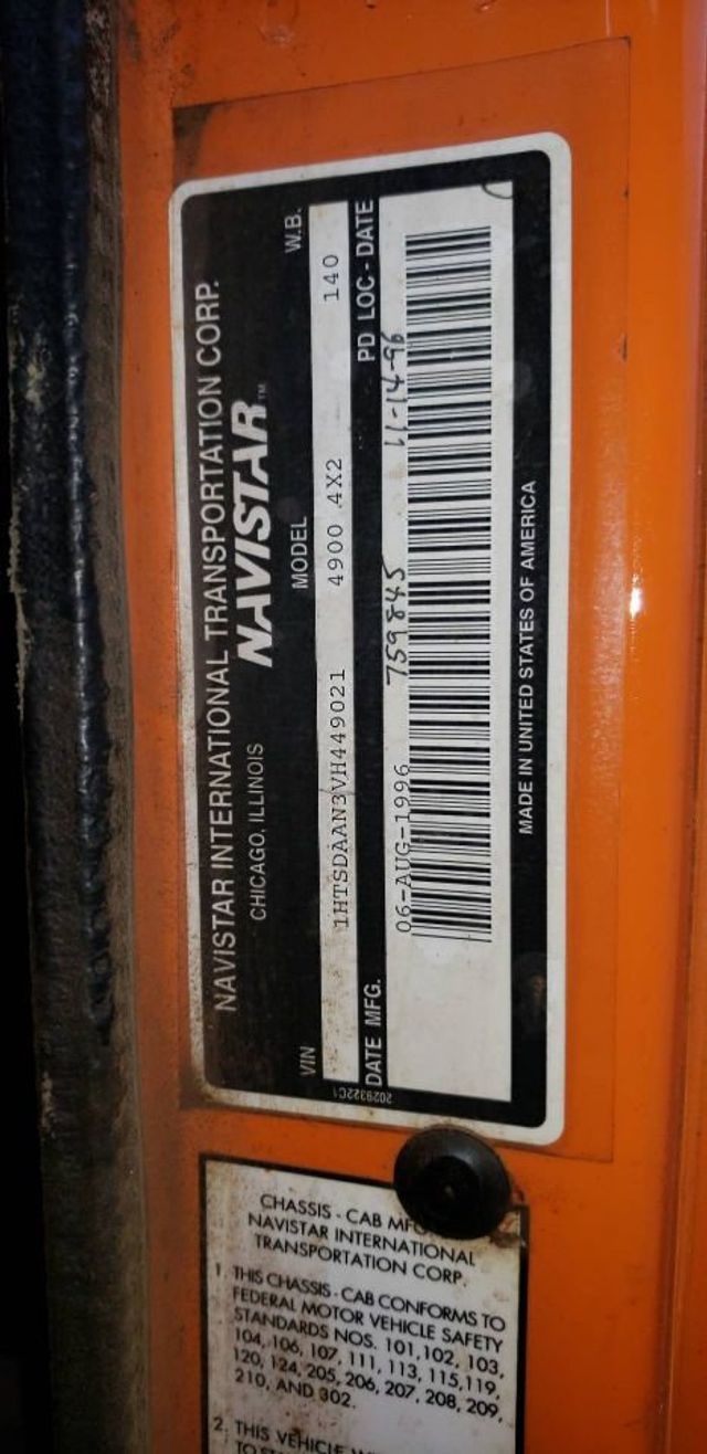 1997 International 4900 MASON DUMP TRUCK     ***  DT466  *** READY FOR PLOW - 17916277 - 16