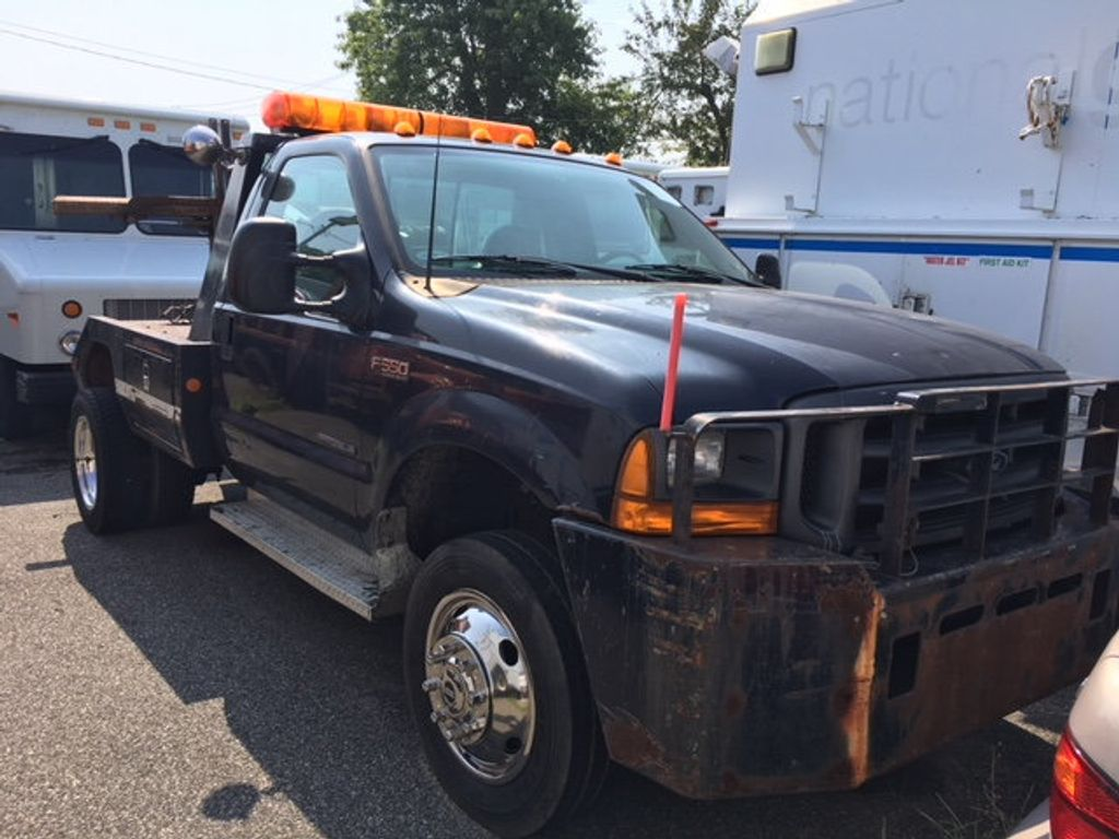 1999 Ford SUPER DUTY F-550 SELF LOADER TOW TRUCK 7.3 POWERSTROKE TURBO DIESEL    ***   LOW MILES   *** - 17537969 - 4