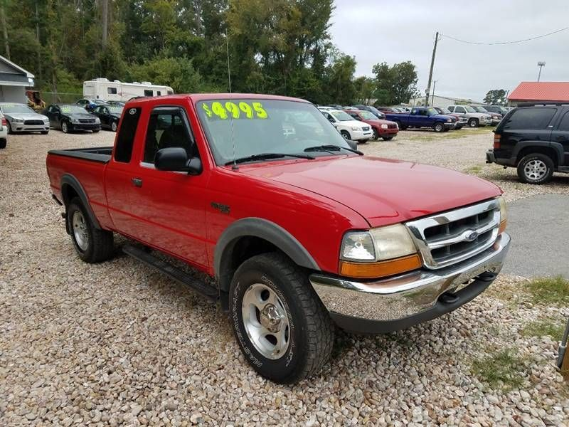 """Used Cars Florence Sc >> 2000 Ford Ranger Supercab 126"""" WB XLT 4WD Truck Extended Cab Short Bed for Sale Florence, SC ..."""