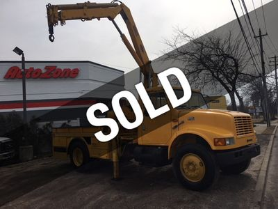 2000 International 4900 Flatbed  IMT 8300 LBS Hydraulic Knuckle Boom