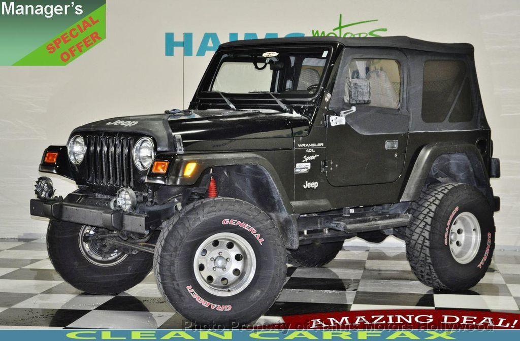 2000 used jeep wrangler 2dr sport at haims motors serving fort