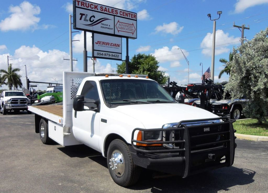 2001 Ford F350 7.3L DIESEL . 12FT FLATBED - 18965867 - 0