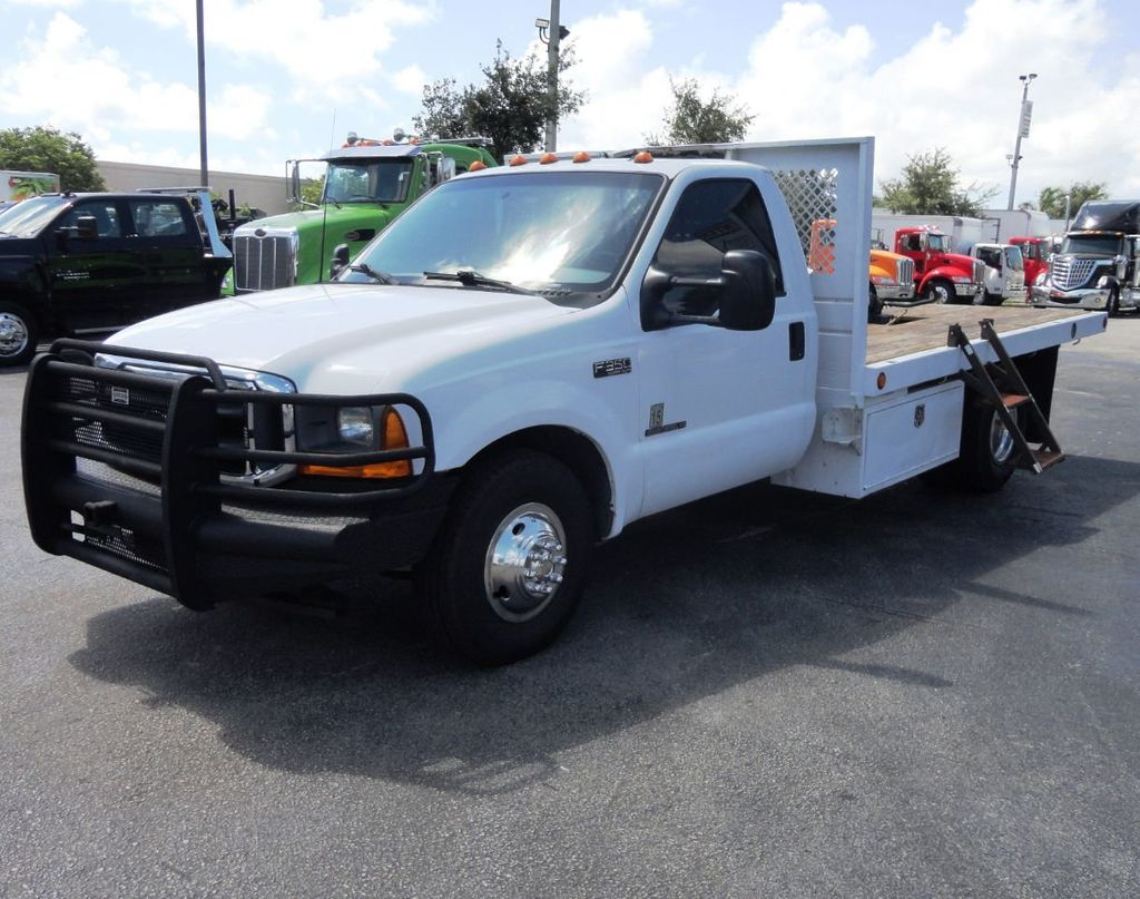 2001 Ford F350 7.3L DIESEL . 12FT FLATBED - 18965867 - 9