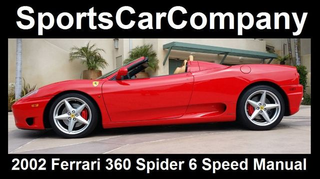2002 Ferrari 360 2dr Convertible Spider