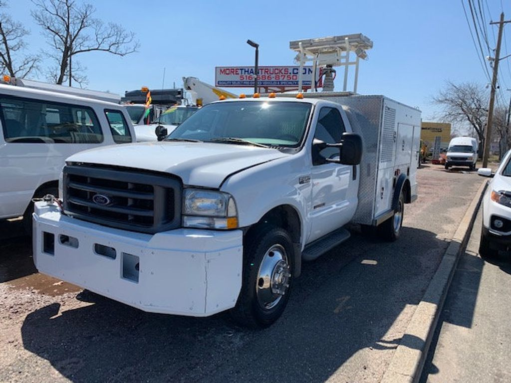 2002 Ford F550 Utility Truck with Telescopic Mast & Gen Set 4x4  Telescopic Boom with Flood Lighting & Generator - 18414795 - 2