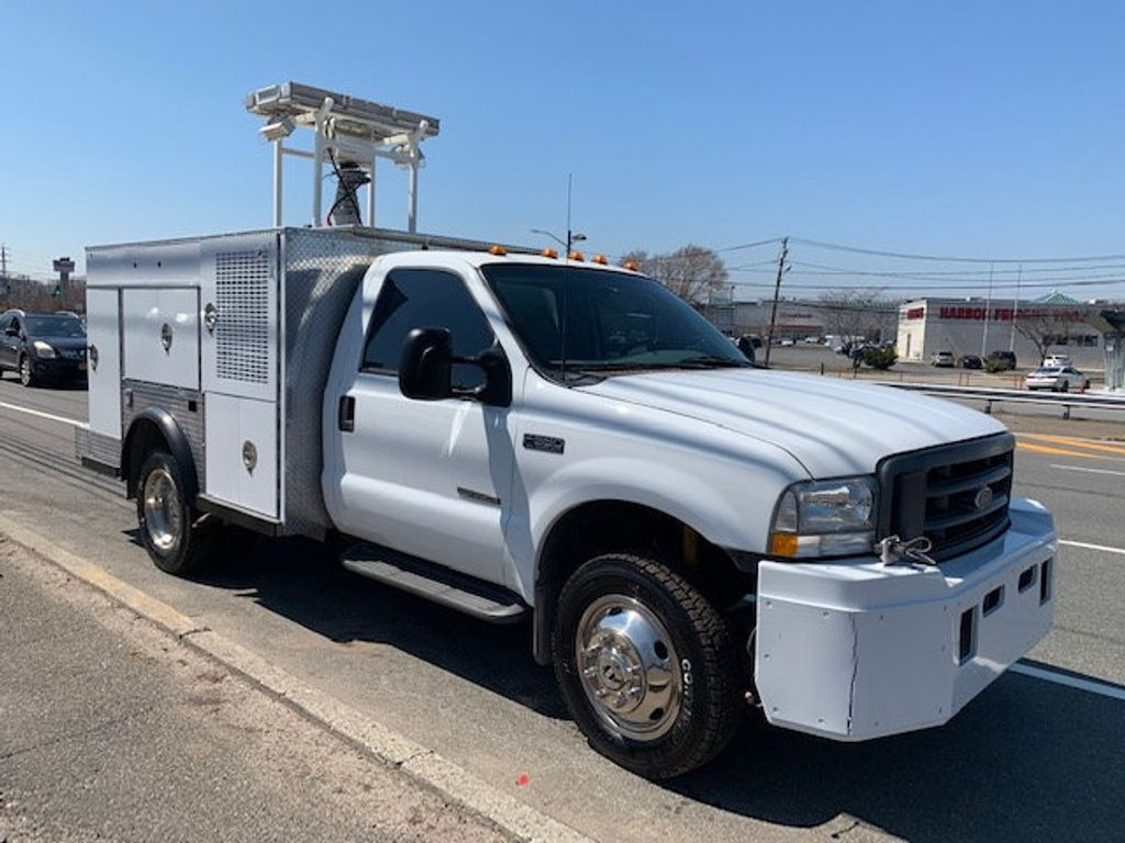 2002 Ford F550 Utility Truck with Telescopic Mast & Gen Set 4x4  Telescopic Boom with Flood Lighting & Generator - 18414795 - 3