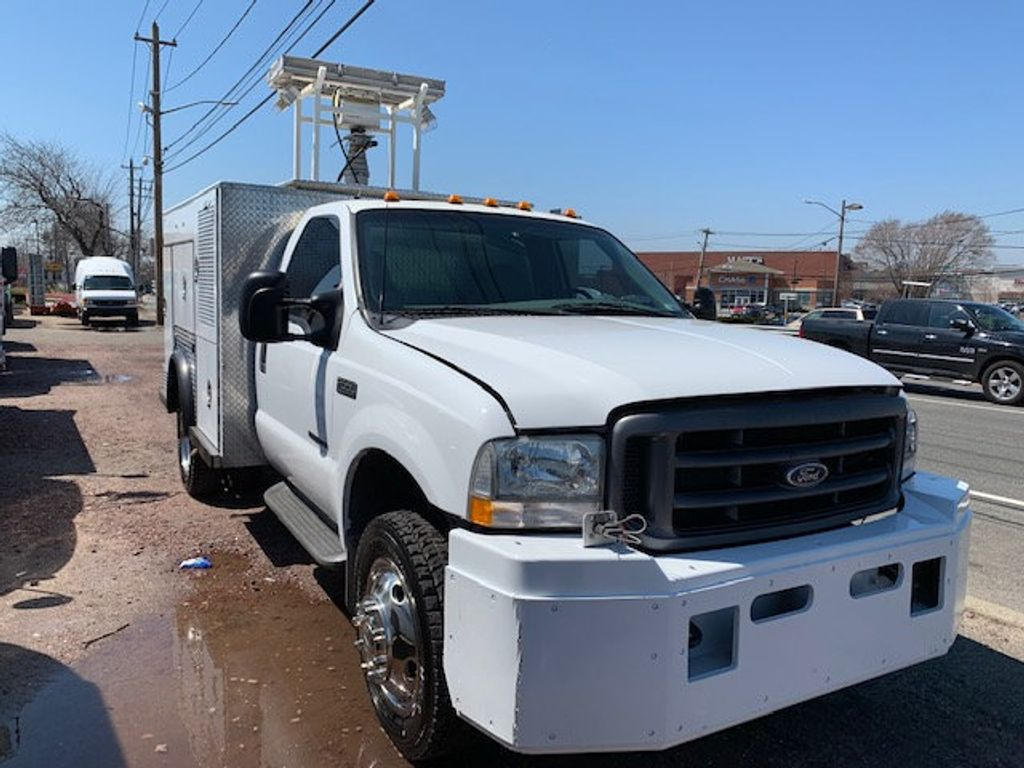 2002 Ford F550 Utility Truck with Telescopic Mast & Gen Set 4x4  Telescopic Boom with Flood Lighting & Generator - 18414795 - 4