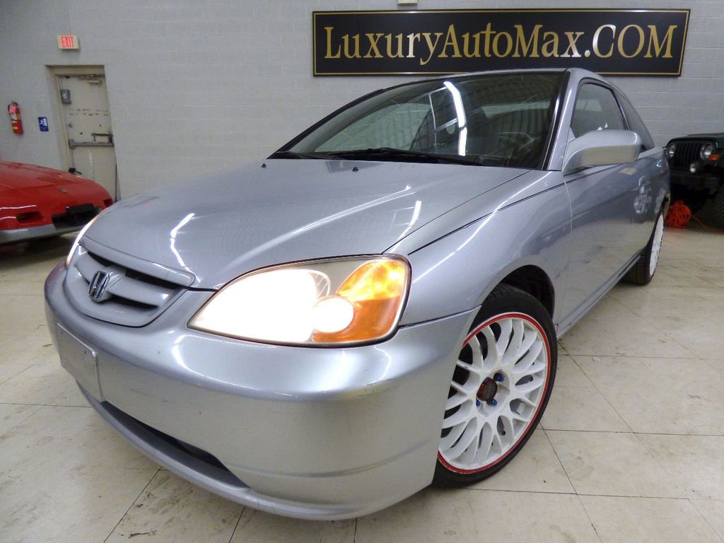 2002 Honda Civic 2dr Coupe EX Automatic w/Side Airbags Coupe - 1HGEM22022L012673 - 0