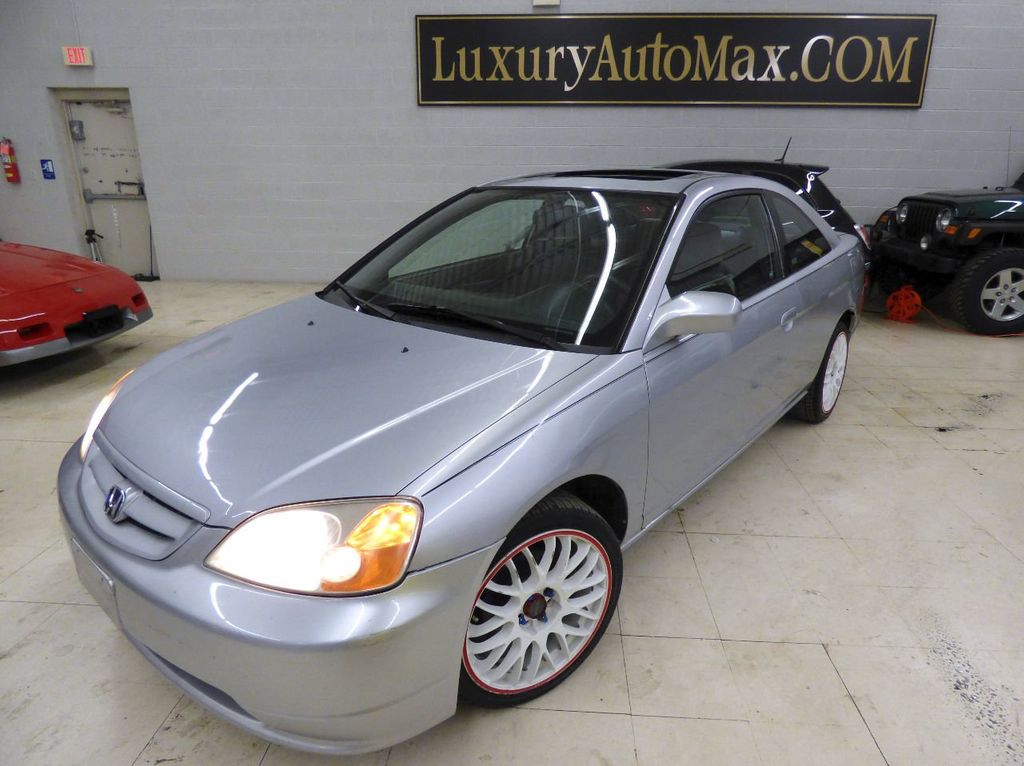 2002 Honda Civic 2dr Coupe EX Automatic w/Side Airbags Coupe - 1HGEM22022L012673 - 1