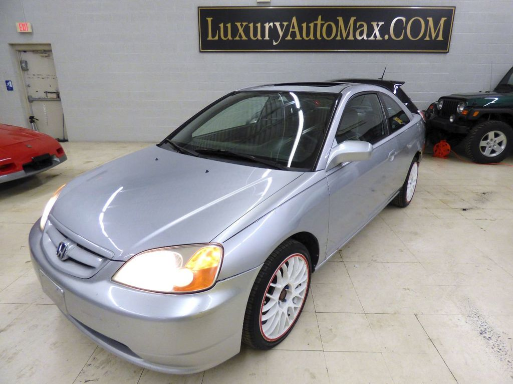 2002 Honda Civic 2dr Coupe EX Automatic w/Side Airbags Coupe - 1HGEM22022L012673 - 6