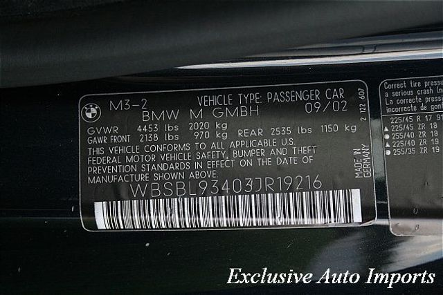 2003 BMW 3 Series M3 2dr Cpe - Click to see full-size photo viewer
