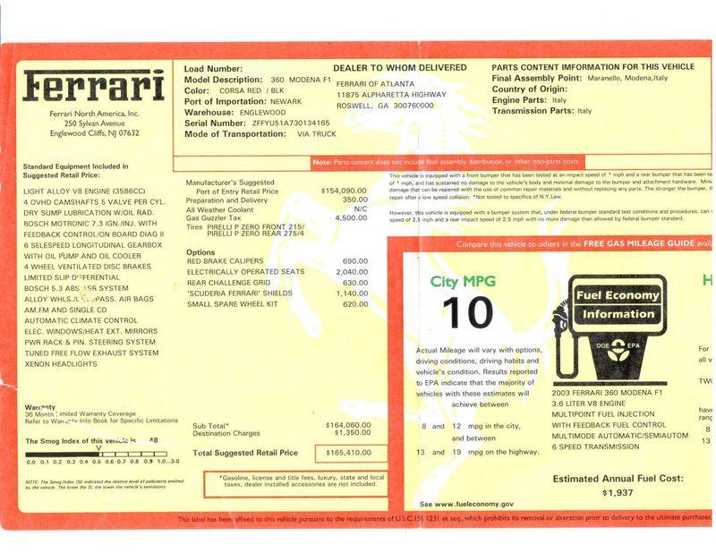 2003 Ferrari 360 360 MODENA COUPE - 17148573 - 34