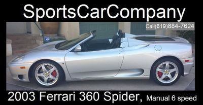 2003 Ferrari 360 SPIDER 360 Spider 6 Speed Manual Transmission - Click to see full-size photo viewer
