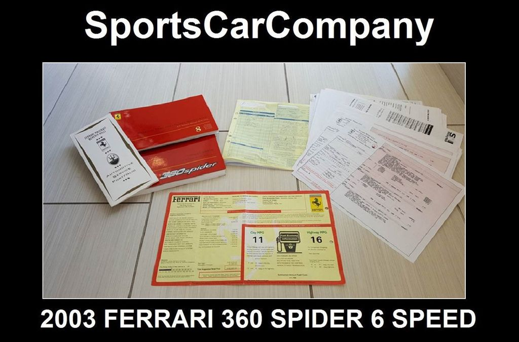 2003 Ferrari 360 SPIDER 6 SPEED 360 Spider 6 Speed Manual Transmission - 16885367 - 59