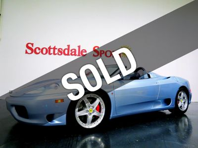 2003 Ferrari 360 SPIDER 6s-MANUAL * 9K Miles...Gated Shifter!