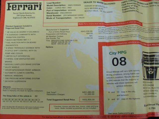2003 Ferrari Enzo Base Trim - 4013780 - 24