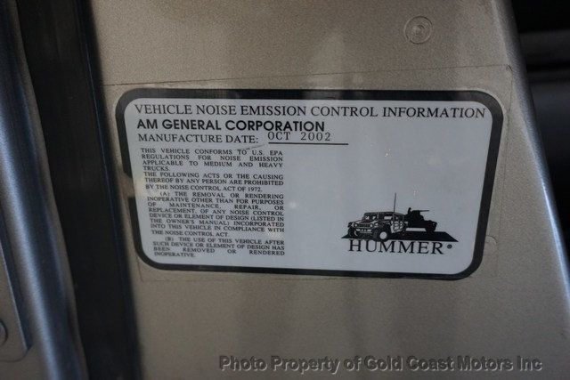 2003 HUMMER H1 4-Passenger Wagon Enclosed - 19302168 - 39
