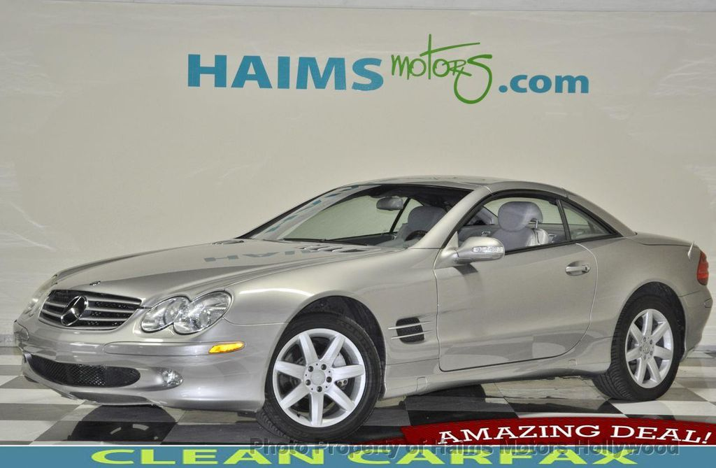2003 used mercedes benz sl class sl500 2dr roadster 5 0l for Used mercedes benz sl500