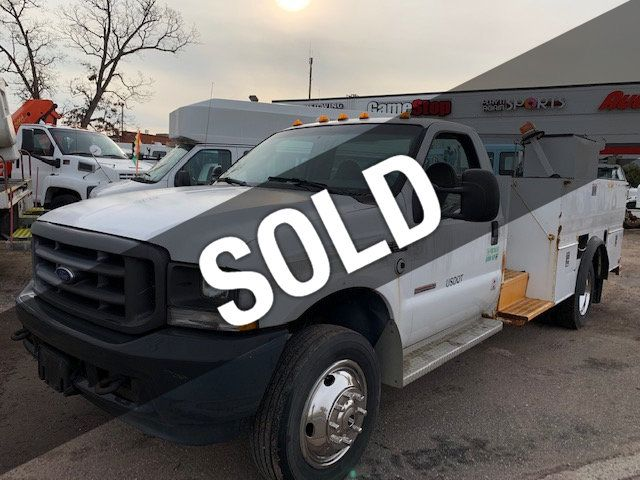 2004 Ford SUPER DUTY  F-550 13 FOOT OPEN UTILITY SERVICE TRUCK - 18463593 - 0