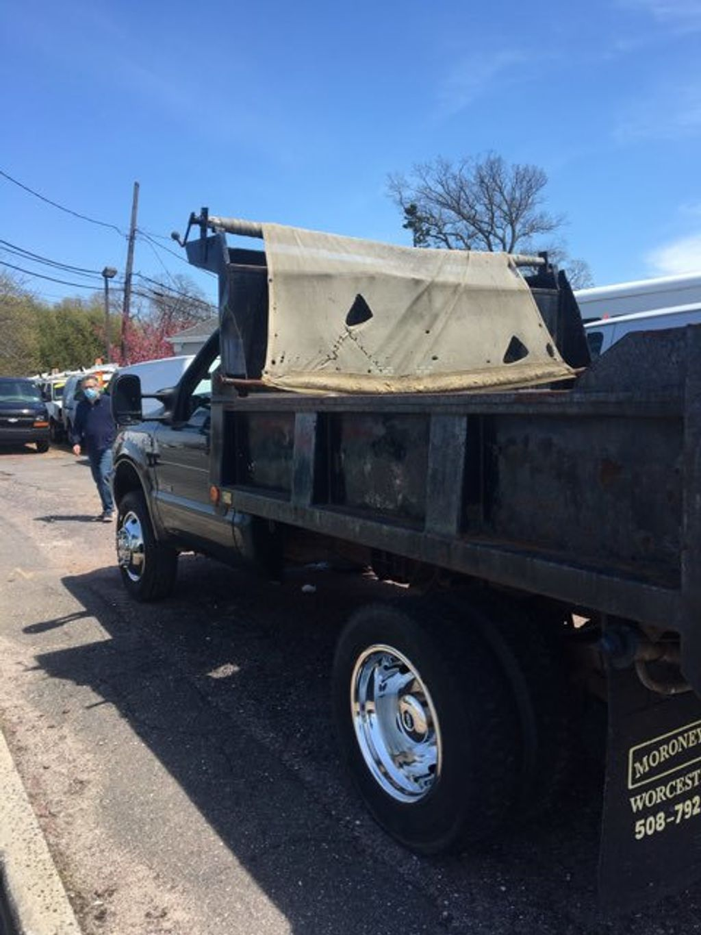 2004 Ford Super Duty F-550 9 FOOT MASON DUMP  with PTO F550 9 FOOT MASON DUMP 5 SPEED WITH PTO CONTROLLER - 14872380 - 2