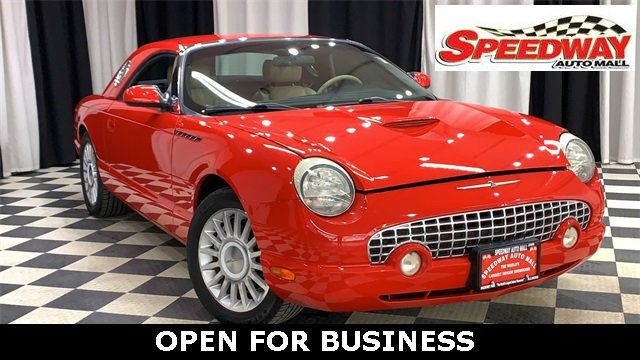 2004 Used Ford Thunderbird 2dr Convertible Deluxe At Sdway Auto Mall Serving Rockford Il Iid 19629946