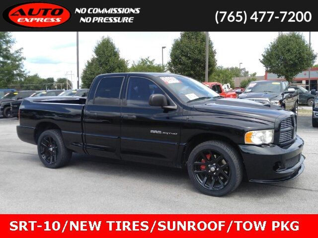 Used Dodge Ram >> 2005 Used Dodge Ram Srt 10 Srt 10 Ext Cab Rwd 22 Black Premium Alloys Sunroof Power Seats At Auto Express Lafayette In Iid 18864296