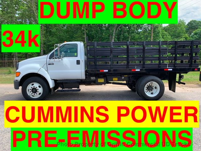 2005 Ford F750 DUMP JUST 35k MILES CUMMINS ALLISON FINANCING NC TRUCK!! PRE-EMISSION CUMMINS