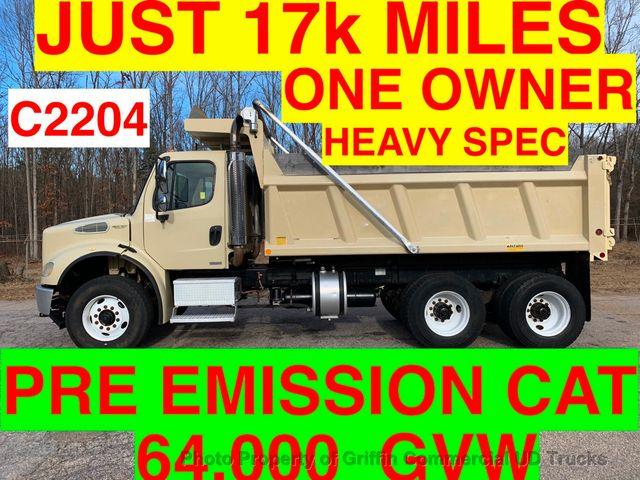 2005 Freightliner HEAVY SPEC TANDEM DUMP JUST 17k MILES 1959 HOURS PRE EMISSION CAT!! LOW LOW HRS! 64,000 GVW