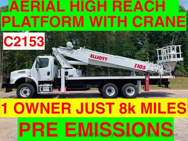 2005 Freightliner TANDEM AERIAL TRUCK JUST 8k MILES ALLISON ELLIOTT I-110 HI REACH AERIAL WORK PLATFORM