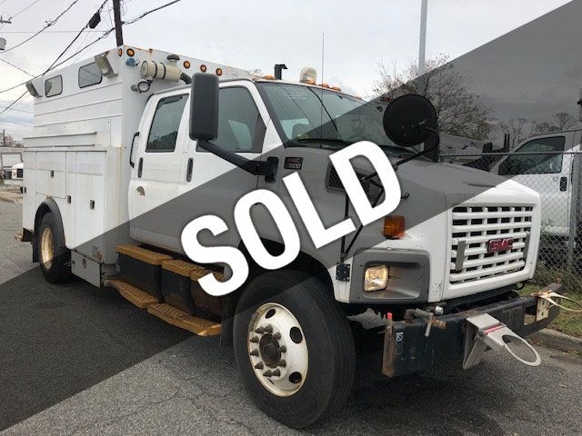 2005 GMC C7500 CREW CAB 4 DOOR ENCLOSED UTILITY SERVICE VAN AIR UNDER MOUNT DECK AIR COMPRESSOR - 18326758 - 0