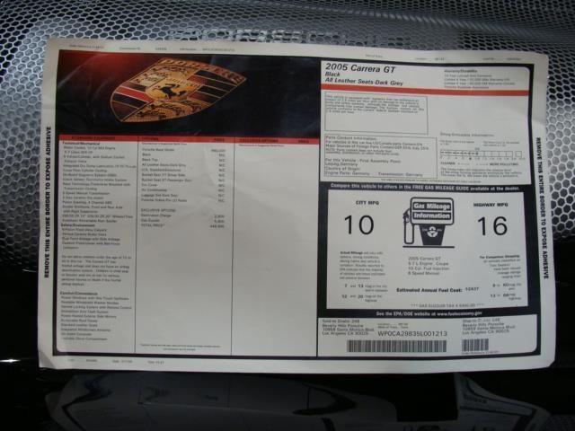 2005 Porsche Carrera GT Base Trim - 7074642 - 31
