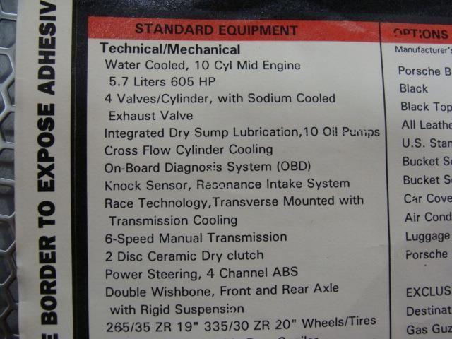 2005 Porsche Carrera GT Base Trim - 7074642 - 34