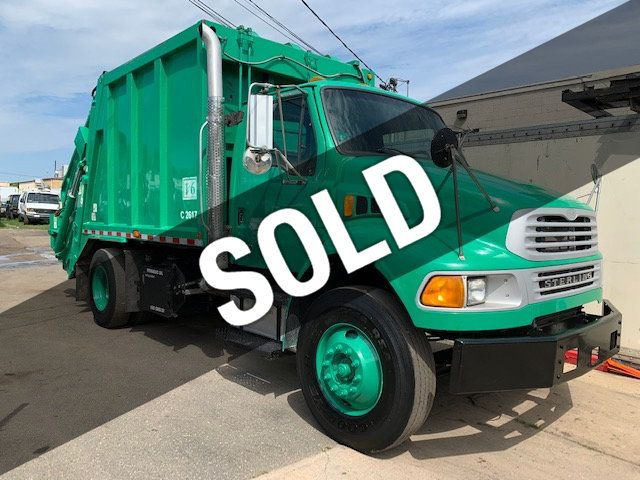 2005 Sterling Acterra 16 Yard Rear Load Garbage Compactor Truck Rear Winch Reiving Cylinder  Cart Tipper Kick Bar - 18323453 - 0