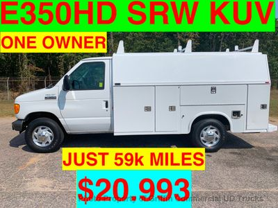 2006 Ford E350HD SRW KUV WALK IN UTILITY JUST 59k MILES ONE OWNER!! HITCH RECEIVER LADDER RACKS