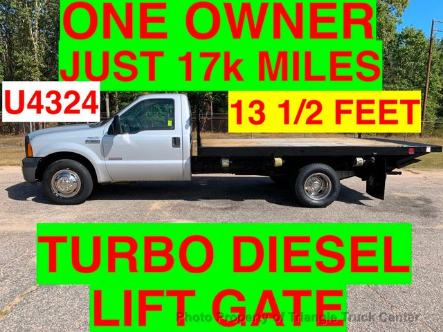2006 Ford F350HD JUST 17k MILES 12 FOOT FLAT BED LIFT GATE ONE OWNER!! PRE EMISSION DIESEL