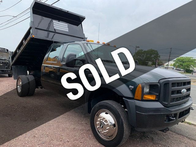 2006 Ford F450 SUPER DUTY 4X4 MASON DUMP TRUCK  SNOW PLOW Full Size Crew Cab Will Transport 6 Men Comfortably - 17759953 - 0