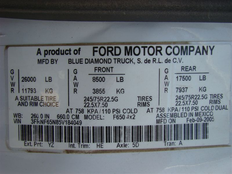 2006 Ford F650 Fuel - Lube Truck - 6915308 - 30
