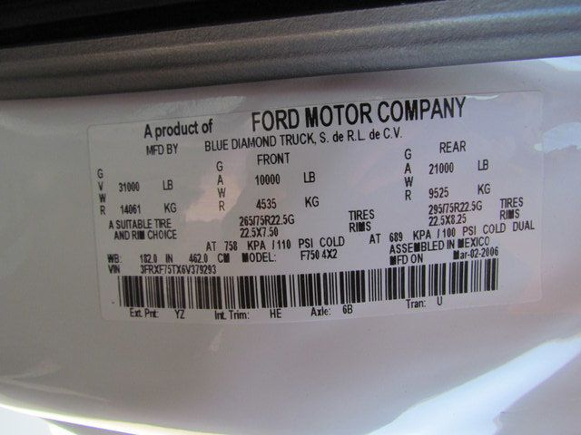 2006 Ford F750 Utility-Service - 15423672 - 30