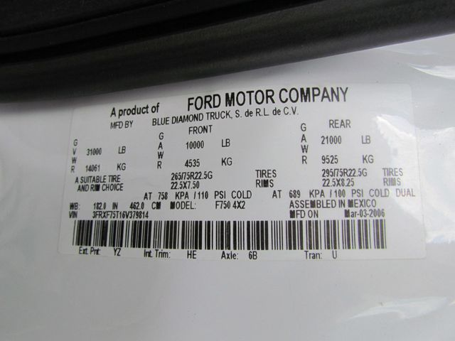 2006 Ford F750 Utility-Service - 15680584 - 30
