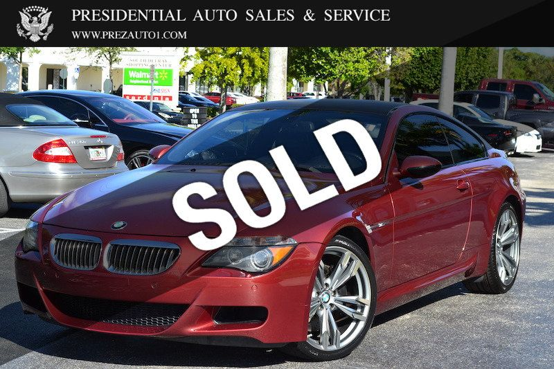Presidential Auto Sales >> 2007 Bmw 6 Series M6 Coupe For Sale Delray Beach Fl 17 960 Motorcar Com