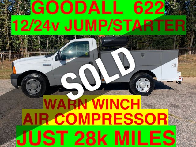 2007 Ford F250HD UTILITY 28k MILES ONE OWNER SERVICE TRUCK GOODALL 622 12/24V STARTER WITH AIR COMPRESSOR TANKS