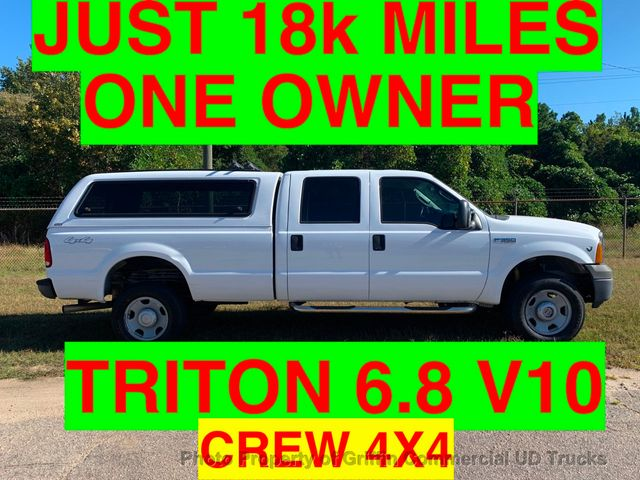 2007 Ford F350HD 4x4 SRW CREW CAB 6.8 V10 TRITON ONE OWNER SUPER CLEAN!!! HARD TO FIND FULL 1 TON WITH V10!!!