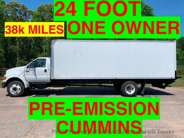 2007 Ford F650/F750 NON CDL JUST 38k MILES ONE OWNER 24 FOOT PRE EMISSION CUMMINS! BIG HP!! LIFT GATE