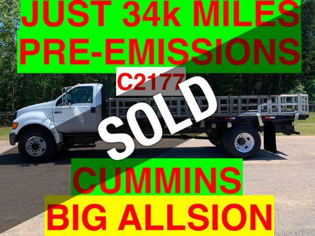 2007 Ford F750 LONG FLATBED JUST 34k MILES ONE OWNER PRE-EMISSION CUMMINS!! BIG ALLISON AUTO