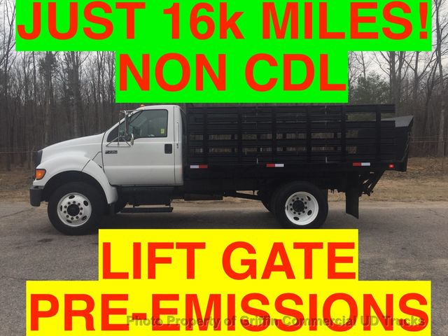 2007 Ford F750/F650 16k MI NO CDL UNDER 26k GVW  STAKE BODY LIFT GATE PRE-EMISSION TURBO DIESEL