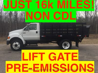 2007 Ford F750/F650 NON CDL UNDER 26,000 GVW  STAKE BODY LIFT GATE PRE -EMISSION TURBO DIESEL