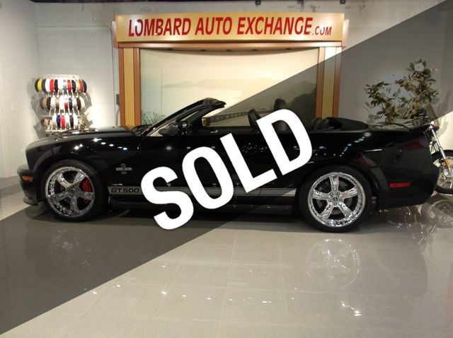 2007 Used Ford Mustang SHELBY Certified GT 500 Convertible 40th Anniversary  at Lombard Auto Exchange Serving Addison, IL, IID 18128923